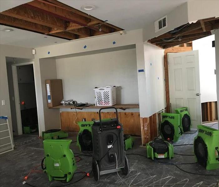 Large 2 Story Water Loss