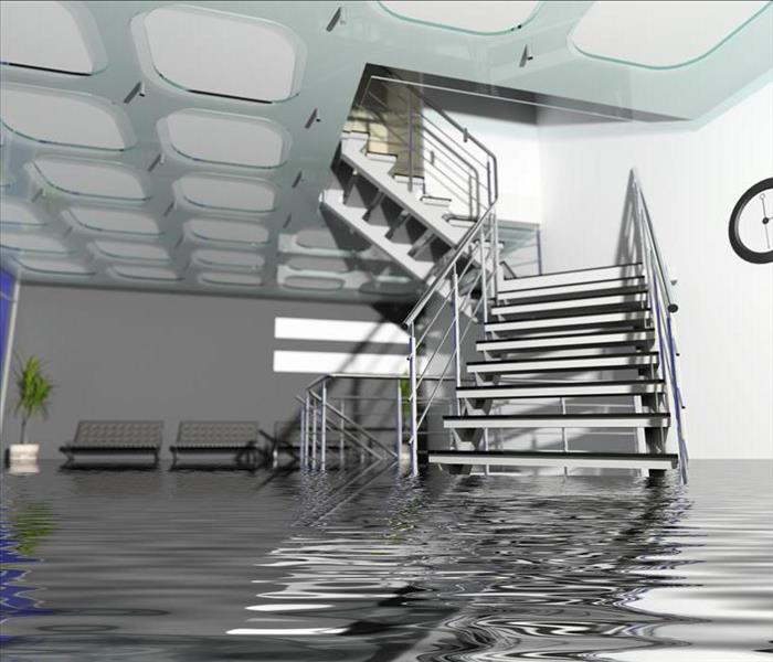 Commercial When we arrive to a commercial water damage