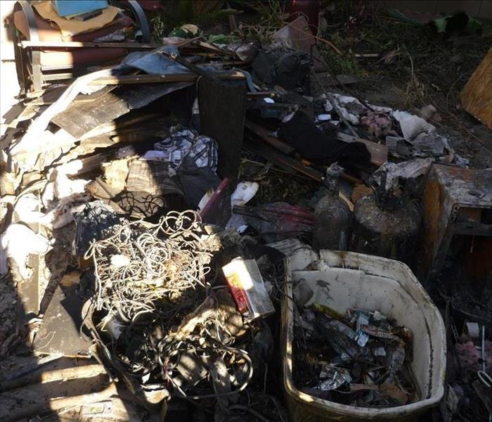 Home business materials damaged by Fire damage.