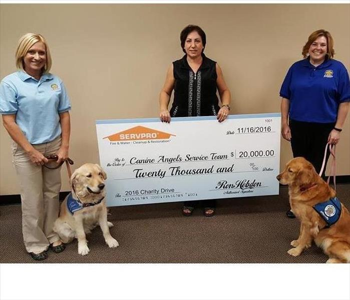 Community SERVPRO and Canine Angels Service Team